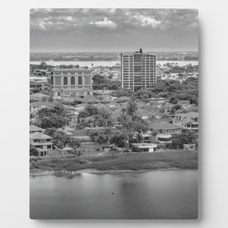 Guayaquil Aerial View from Window Plane Plaque