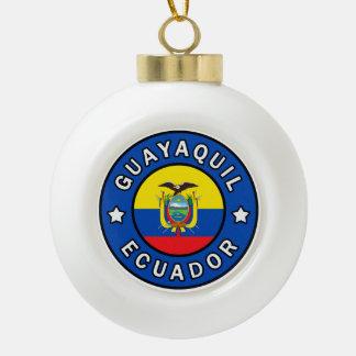 Guayaquil Ecuador Ceramic Ball Christmas Ornament