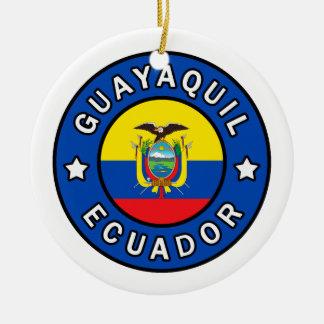 Guayaquil Ecuador Ceramic Ornament