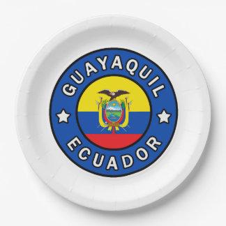 Guayaquil Ecuador Paper Plate