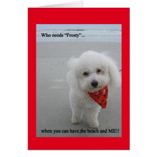 Gucci at the Beach - Greeting Card