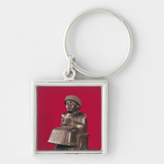 Gudea, Prince of Lagash, dedicated to Silver-Colored Square Keychain