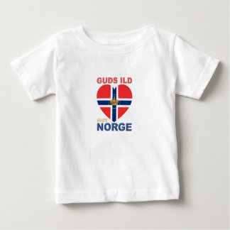 GUDS ILD OVER NORGE Norwegian Baby T-Shirt