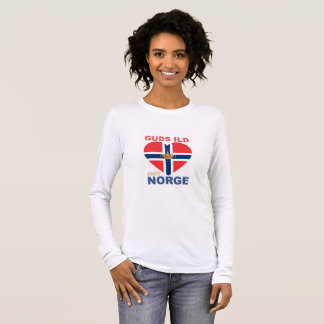 GUDS ILD OVER NORGE Norwegian Long Sleeve T-Shirt