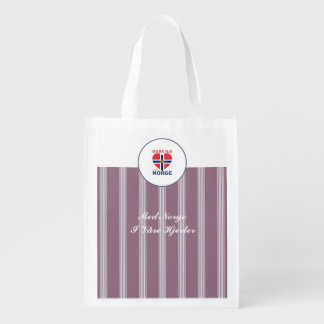 GUDS ILD OVER NORGE REUSABLE GROCERY BAG