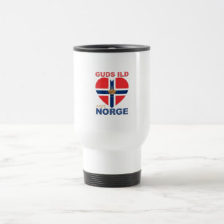 GUDS ILD OVER NORGE TRAVEL MUG