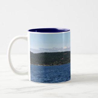 Guemes Island Ferry Two-Tone Coffee Mug