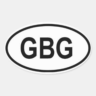 """Guernsey """"CBG"""" Oval Sticker"""