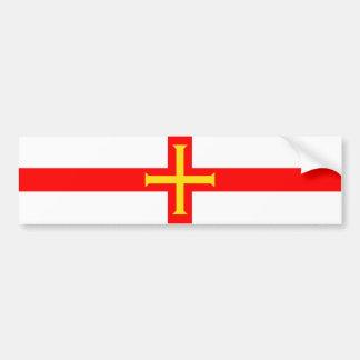 Guernsey country long flag nation symbol republic bumper sticker