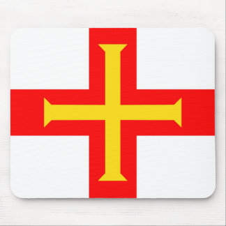 Guernsey country long flag nation symbol republic mouse pad