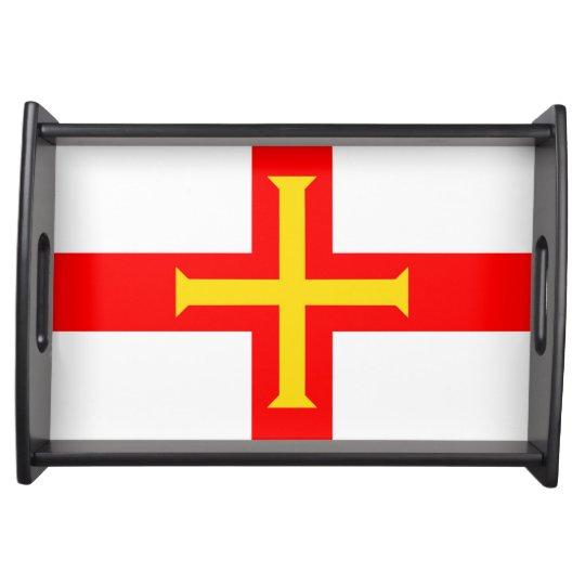 Guernsey country long flag nation symbol republic serving platter