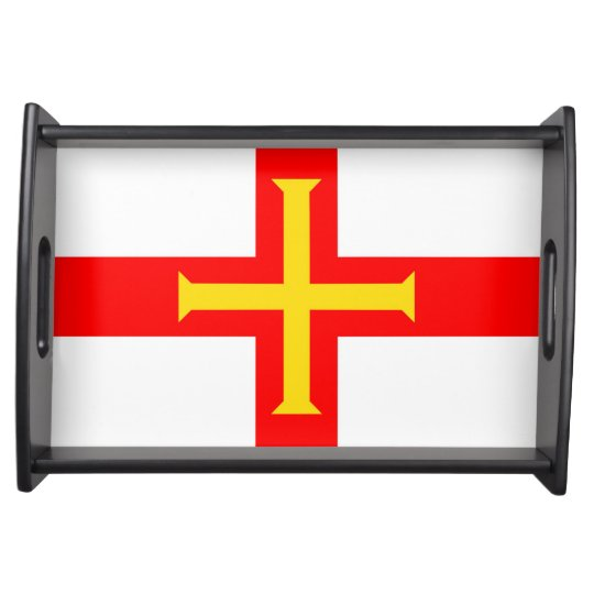 Guernsey country long flag nation symbol republic serving tray