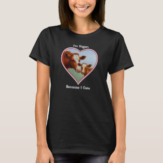 Guernsey Cow and Calf Vegan T-Shirt