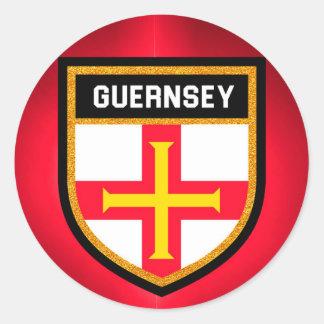 Guernsey Flag Classic Round Sticker
