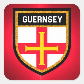Guernsey Flag Square Sticker