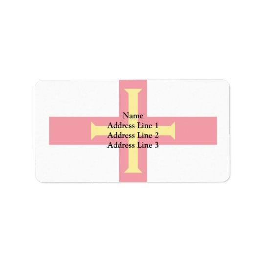 Guernsey, Guernsey flag Label