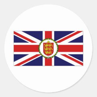 Guernsey Lieutenant Governor Flag Classic Round Sticker