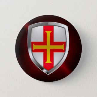 Guernsey Metallic Emblem 2 Inch Round Button