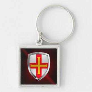 Guernsey Metallic Emblem Keychain