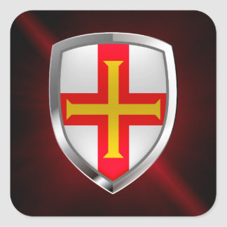 Guernsey Metallic Emblem Square Sticker