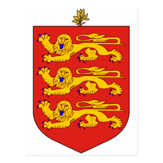 Guernsey Official Coat Of Arms Heraldry Symbol Postcard