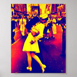 Guerre au-dessus de baiser - style de Popart Posters