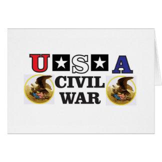 guerre civile blanche et bleue rouge carte de vœux