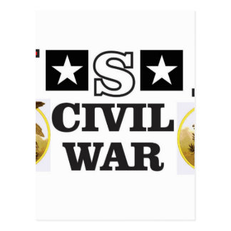 guerre civile blanche et bleue rouge carte postale