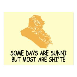 Guerre d'Irak drôle Carte Postale