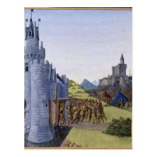Guerre entre Girard de Cazaubon et le comte Postcard