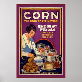 Guerre mondiale de Corn~Vintage 1 Affiches