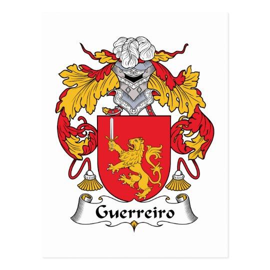Guerreiro Family Crest Postcard