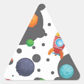 Guerres de l'espace d'alunissage de Wellcoda Sticker Triangulaire