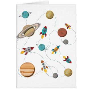 Guerres de lune d'atterrissage de l'espace de carte de vœux
