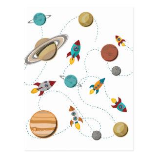 Guerres de lune d'atterrissage de l'espace de carte postale