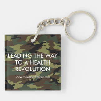 Guerrilla Diet (double-sided) Keychain