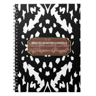 Guess What Animal Print Black White Notebook
