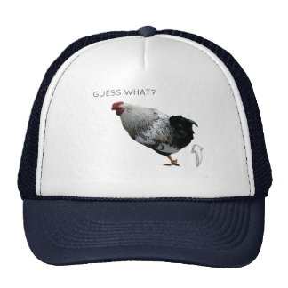GUESS WHAT? CHICKEN BUTT. funny parody trucker hat