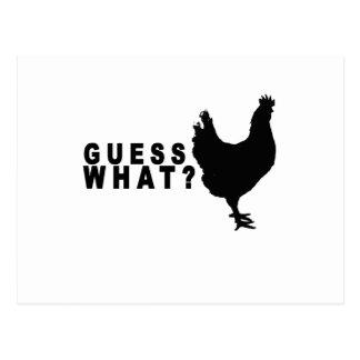 Guess What Chicken Butt T Shirt.png Postcard