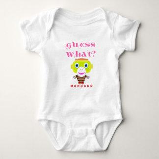 Guess What-Cute Monkey-Morocko Baby Bodysuit