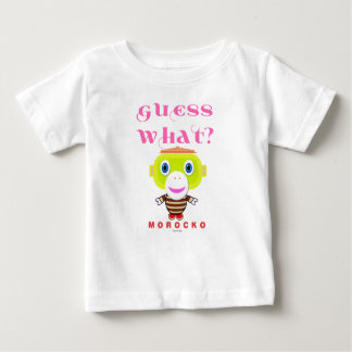 Guess What-Cute Monkey-Morocko Baby T-Shirt