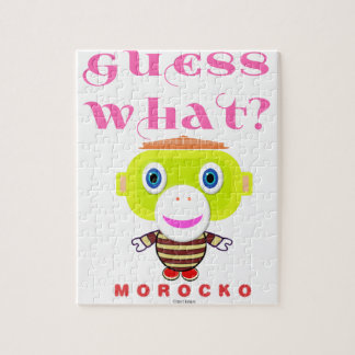 Guess What-Cute Monkey-Morocko Jigsaw Puzzle