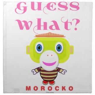 Guess What-Cute Monkey-Morocko Napkin