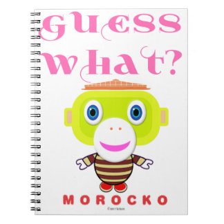 Guess What-Cute Monkey-Morocko Notebook