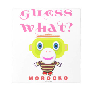 Guess What-Cute Monkey-Morocko Notepad