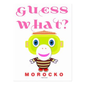 Guess What-Cute Monkey-Morocko Postcard