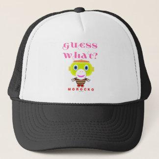Guess What-Cute Monkey-Morocko Trucker Hat