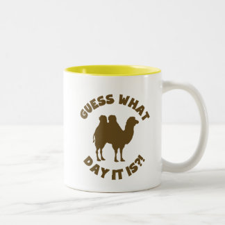 Guess What Day? Hump Day Wednesday Two-Tone Coffee Mug