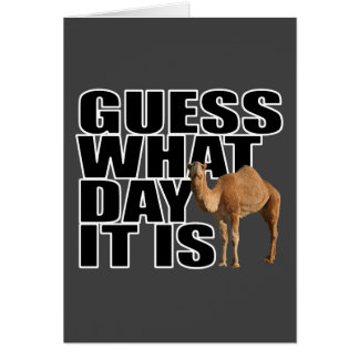 Guess What Day It Is Hump Day Camel Cards