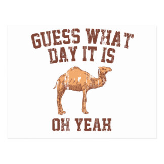 GUESS WHAT DAY IT IS? POSTCARD